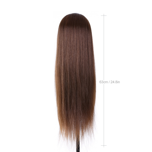 "TOMTOP / 24"" Mannequin Head Hairdressing Training Head for Hair Styling Practice Dummy Head for Hair Braiding High Temperature Fiber Head Model"