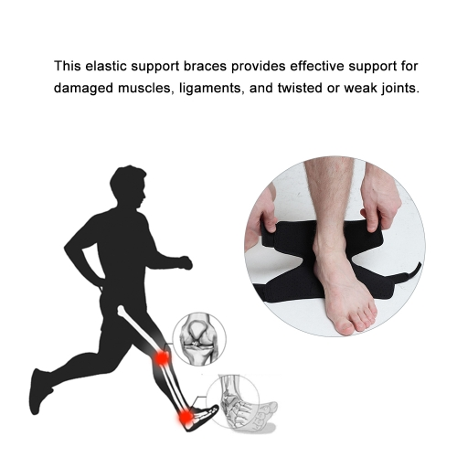 1Pc Adjustable Ankle Support Breathable Elastic Sports Ankle Support Gym Badminton Running Basketball Ankle Brace Support Foot Protection Bandage