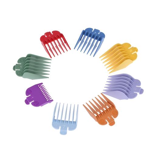 8 tamaños Colorful Hair Clipper límite peine guía conjunto de accesorios para pelo eléctrico cortador de afeitar accesorio de corte de pelo
