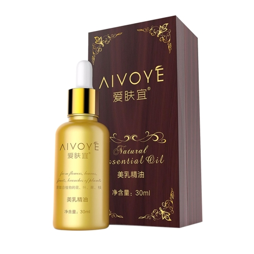 AIVOYE Aceite Esencial de Pecho Femenino 30ml Crema de Agrandamiento de la Belleza Crema de Busto Hasta Aceites de Mama Extractos de Plantas Naturales Aceites Esenciales
