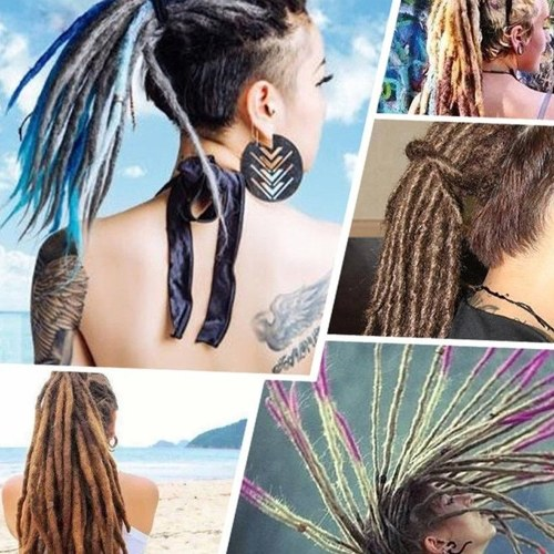 1 Pack 10 PCS Handmade Dreadlocks Extensions Fashion Reggae Crochet Hip-Hop Synthetic Dreads Crochet Braiding Hair 33#