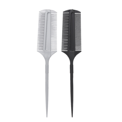 1PC Hair Tint/Dye Brush Double-side Hair Coloring Comb With Tailed Handle Dyeing Brush Salon Hairstyling Tool Home Use Random Color