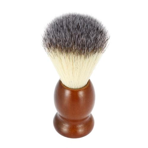 Кисточку для бритья мужской нейлон с дерева ручка для бороды профессиональный мужской бритвы лица кистью лицо очистки инструмента темно-коричневый