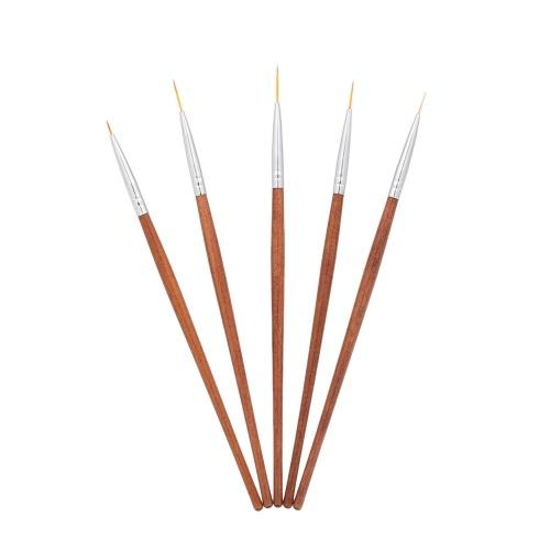 5Pcs Nail Art Pen Set DIY Drawing Painting Brush Pen