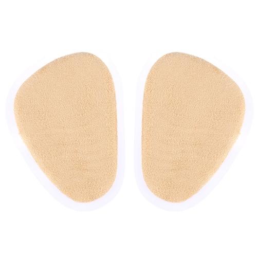 Pie medio PU & pelusa zapato plantillas pies cuero puntera Unisex plantilla 1 par Oval cojín cojín pie cuidado herramienta