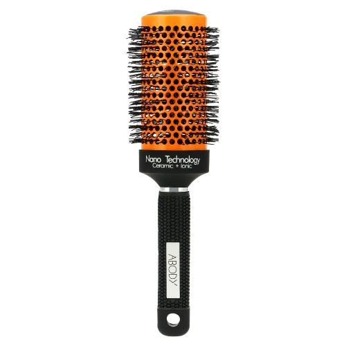 AKörper Keramik & Nylon Haar Runde Pinsel Haartolle Roller Kamm für DIY Frisur Massagegerät Haarbürste geschweiften Bombe 53mm Durchmesser