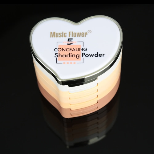 5 Colors Cosmetic Concealing Shading Powder Concealer & Contour Makeup Heart-shaped