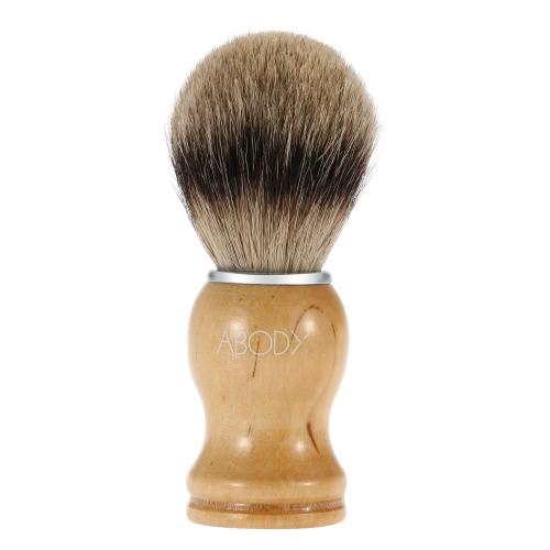 Пантелеева мужчин Blaireau бритья щетка мужской волос для бороды, щетка бритья лица с ручкой бук для очистки инструмента лица бритвы