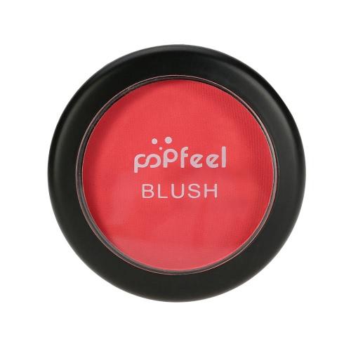Popfeel Makeup Gesicht Blusher-Puder-Paletten-kosmetischen Blusher-Puder # 5 Make Up 6 Farben optional mit Spiegel Pinsel