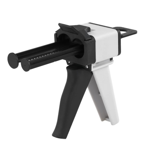 Dental Impression Mixing Dispensing Universal Dispenser Gun Silicon Rubber Dispenser Gun1:1 /1:2 50ml
