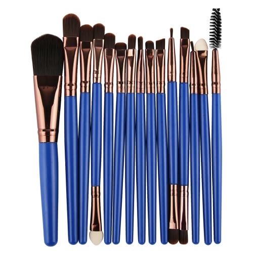 15PCS Berufsaugen-Schatten-Augenbraue-Lippenverfassungs-Bürsten-Werkzeug-Wolle-Entwurf Pinceau Maquillage Professionnel
