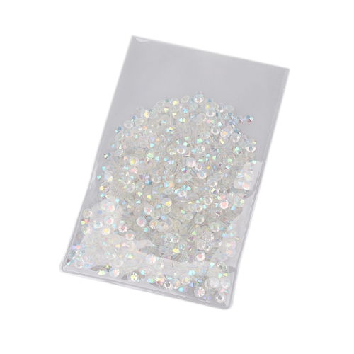 Shiny Strass Clear Crystal Rhinestones Mixed Non Hotfix Redondo 3D Nail Art Decoraciones Flatback