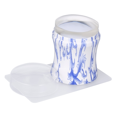 4 cm Estampador de uñas Nail Art Clear Stamp Juego de raspadores de sellos de jalea Estampado de polaco Herramienta de manicura Juego de raspadores de sellos