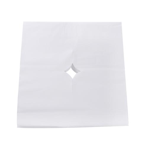 100 unids / bolsa salón de belleza cojín de la cara mesa de la cama cubierta del agujero de la cara masaje spa desechable hoja de respiración blanco