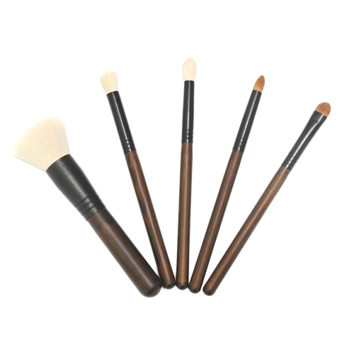 5Pcs Makeup Brush Set Fiber Hair Cosmetic Brushes Powder Foundation Sombra de olhos Lip Brush Kit Ferramentas de maquiagem