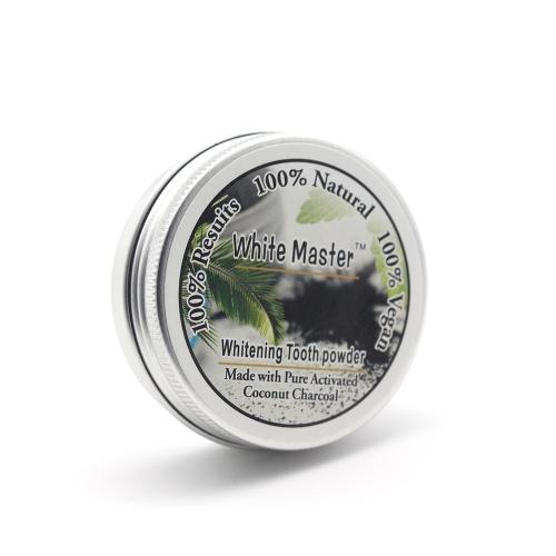 Aktivkohle-Whitening Tooth Powder Kräuter sauber Zahnpasta Zahnpflege
