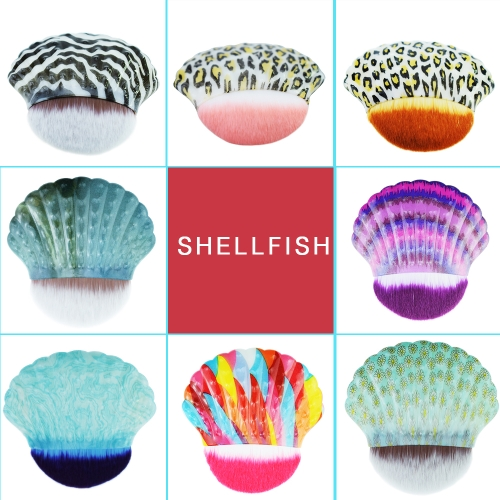 Shell-shaped Professional Facial Makeup Tool Single Mermaid Foundation Cosmetic Brush