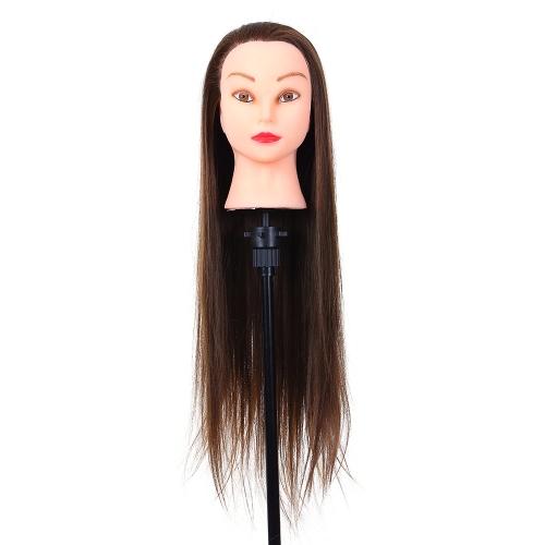 """26 """"Cabeça de manequim Cabeleireiro Treinamento Cabeça Cabeleireiro de cabelo Prática de cabeleireiro Cabeça manequim Modelo de cabeça de fibra de alta temperatura"""