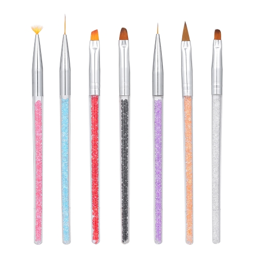 7 Unids Set de Cepillo de Uñas Gel UV Nail Pen Nail Drawing Talla Escultura En Relieve Lápiz DIY Herramienta de Manicura