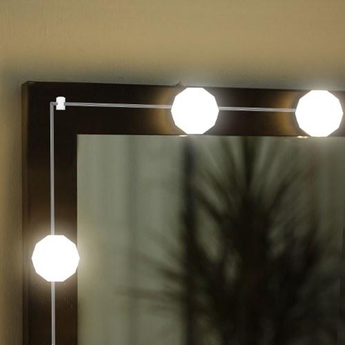 O espelho de vaidade do diodo emissor de luz ilumina o grupo das ampolas de 4 Pcs Dimmable