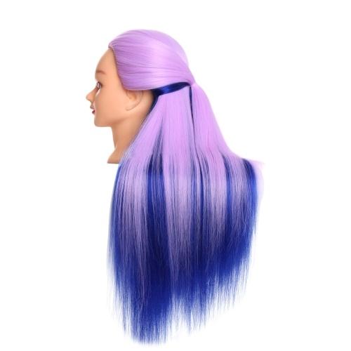 Hochtemperatur Synthetische Faser Synthetische Multicolor Gradienten Haar Trainingsmodelle