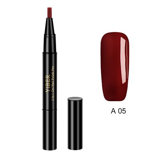 Bolígrafos Glitter Nail Art Pen UV Gel Esmalte de uñas