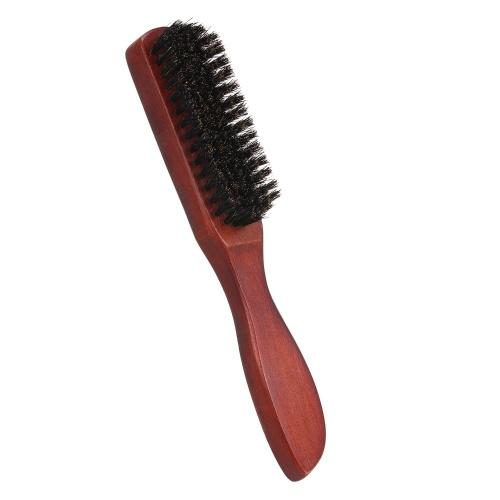 Щетка для волос с густой щетиной Щетки для волос для женщин Кисти для бороды для мужчин Массажная щетка Деревянная ручка для тонких натуральных мягких тонких волос
