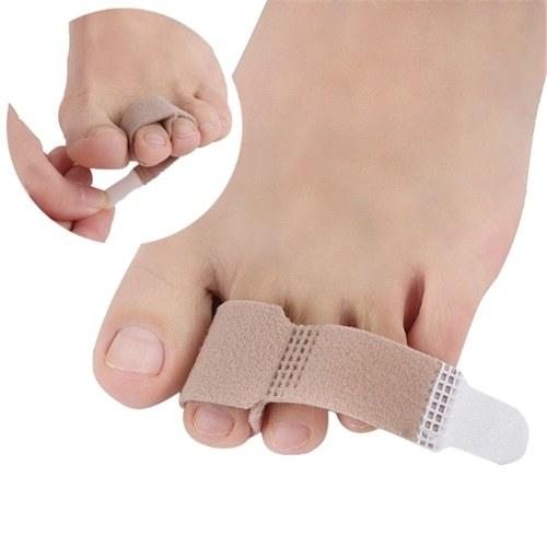 Toe Straightener Toe Tape Bandage Hammer Toe Alluce Valgo Corrector Separatore di dita Stecca Wrap Strumento per la cura del piede per uomini e donne