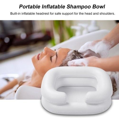 Ciotola per shampoo gonfiabile portatile Pieghevole a letto Lavaggio dei capelli Tagli per capelli Colorazione dei capelli per anziani Lavandino per capelli in gravidanza disabili con tubo di scarico