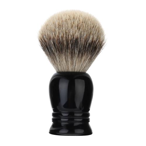 1pc Male Badger Shaving Brush Resin Handle Bristle Razor Brush Men's Black Whisker Cleaning Tool Kit