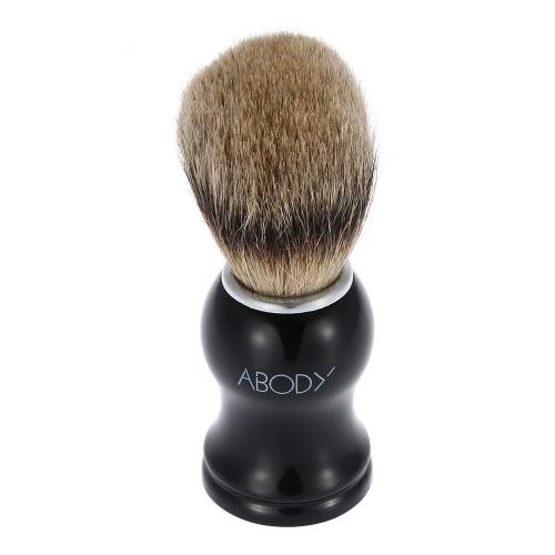 Leib Männer Blaireau Pinsel Haarausfall Rasierpinsel für Bart rasieren Gesichts Rasierer Reinigungsbürste mit Kunststoffgriff Gesicht Reinigungswerkzeug für Friseur-Salon