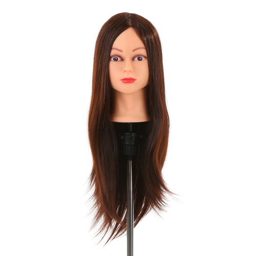 24 inch 30% Real Human Hairdressing Practice Dummy Heads