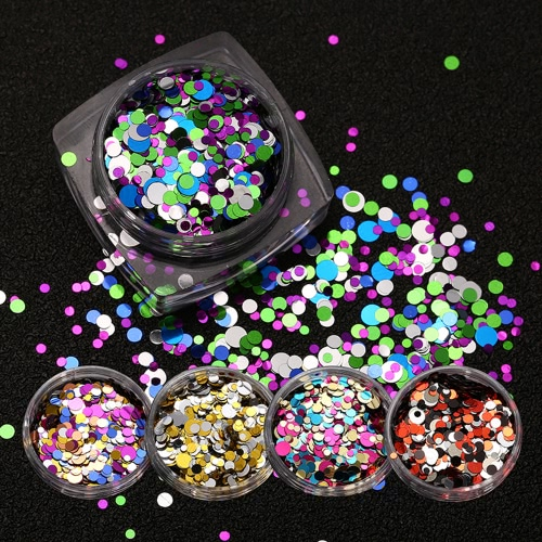 Image of 1 Pcs DIY Beauty Nail Tip Craft Decorations Thin Nail Sequins Paillette Glitter Cosmetic Fashion Nail Polish Stickers