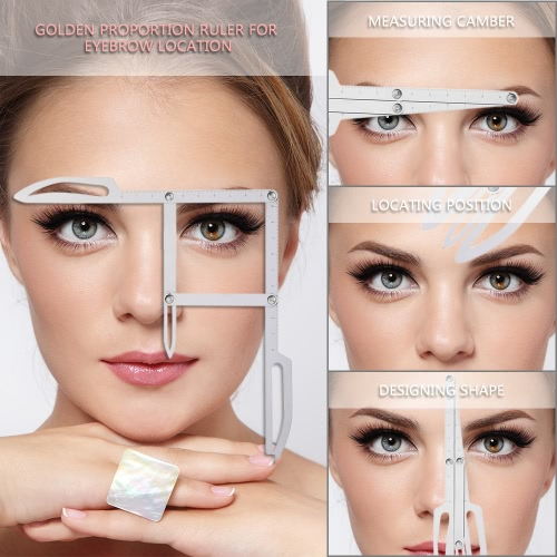 Stainess Stahl Augenbrauen Positionierung Messung Lineal Tattoo Bremssättel Microblading Permanent Make-up Gold Verhältnis DIY Measure Tool Grooming Schablone