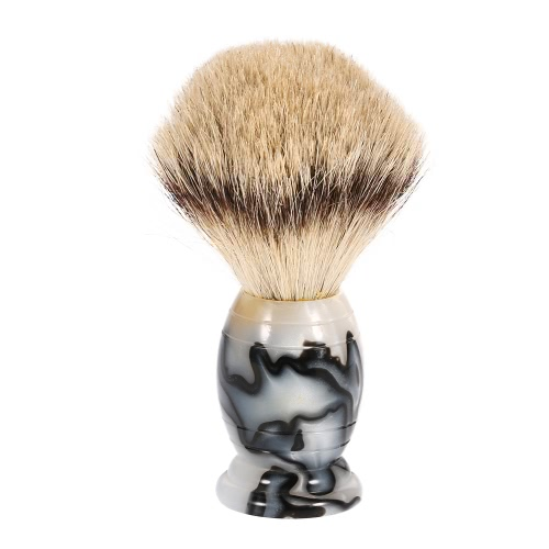Anself Blaireau Shaving Brush Pure Badger Beard Cleaning Brush Male Facial Cleaning Tool Acrylic Handle