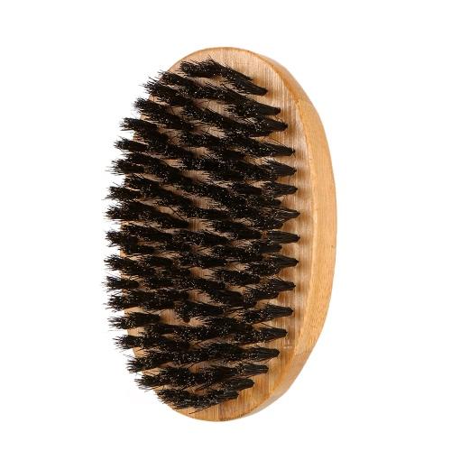 dos homens javali cerdas da escova Barba Bigode Shaving Brush escova de cabelo Facial Bamboo Rodada Militar