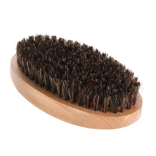 Herren-Eber-Borste-Bart-Bürsten-Schnurrbart-Rasierpinsel Gesichtshaarbürste Bambus Runde Male Rasierpinsel
