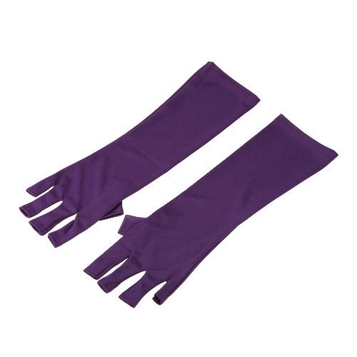 Lupa anti UV para la luz UV / los guantes de la radiación de la lámpara Guantes de la protección del arte del clavo Herramientas del secador del arte del clavo de la manicura