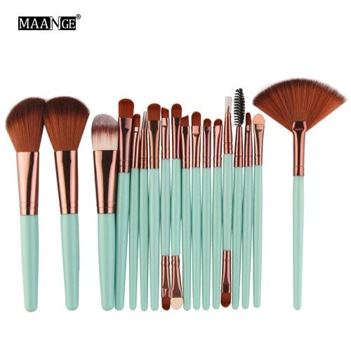 18Pcs Makeup Pinsel Kosmetik Werkzeuge Toilettenartikel Wolle Primer Professional