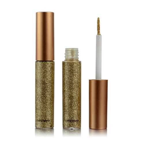 10 цветов Glitters Eyeliner Makeup Women Блестящий длинный глазной лайнер Косметический инструмент для век Eyeshadow Waterproof Shimmer Pigment Liquid HANDAIYAN