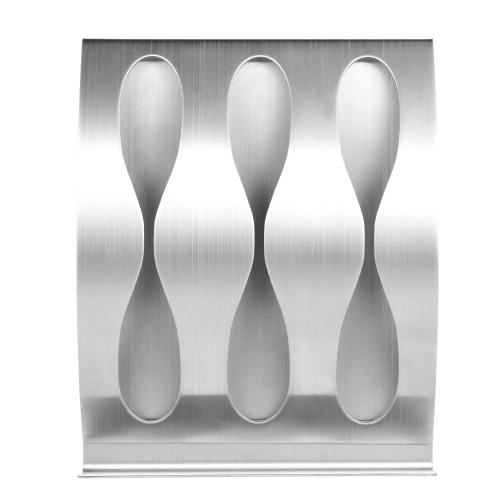 1Pc titular de cepillo de dientes de acero inoxidable auto-adhesivo de montaje en pared cepillo de dientes titular de la aguja Stick-on Stand 3 agujeros