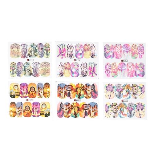 12pcs / bag 12 Patterns Nail Art наклейки Dream Catcher Series Water Transfer Decals