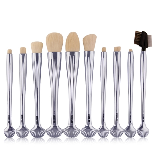 10 stücke Shell Kosmetik Make-Up Pinsel Set Foundation Power Contour Lidschatten