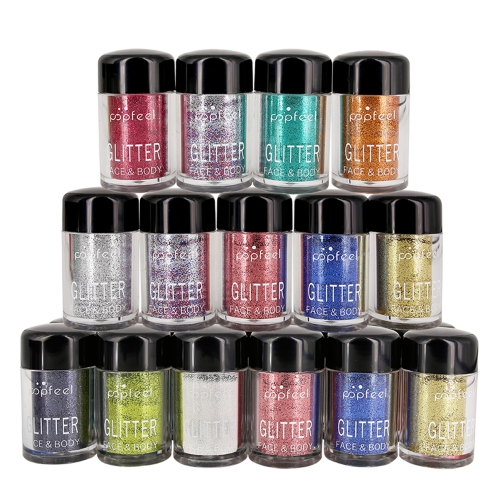 Sombra de olhos Nail Glitter Colors Mixed Loose Powder Eye Shadow
