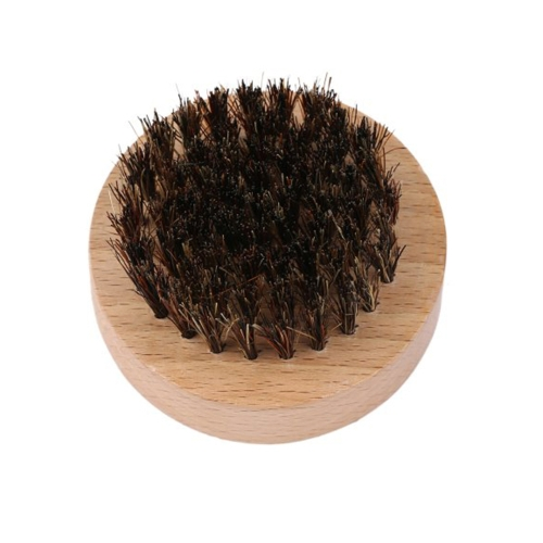Men's Nylon Beard Brush Beard Comb Mustache Shaving Brush Facial Hair Brush Bamboo Round Handle W6526