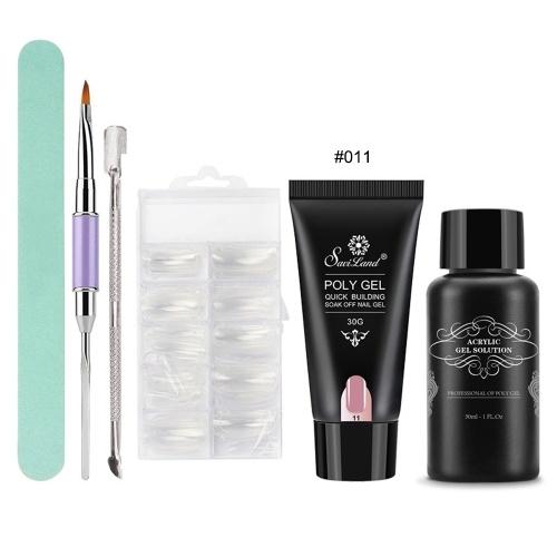 6 Unids / Set Poly Gel Nail Art Kit