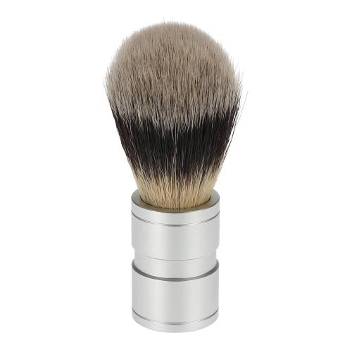 Кисточку для бритья мужской нейлон с оксида металла алюминия обрабатывать наборы для бритья для бороды и сталкиваются вспомогательный инструмент очистки бритвы для мужчин