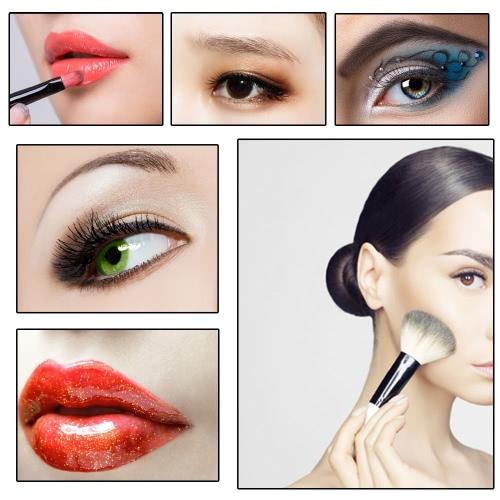Abody 12pcs Makeup Brush Set Essential Cosmetic Kit with Cosmetic Bag Facial Powder Brush Professional Eyeshadow Eyebrow Eyeliner