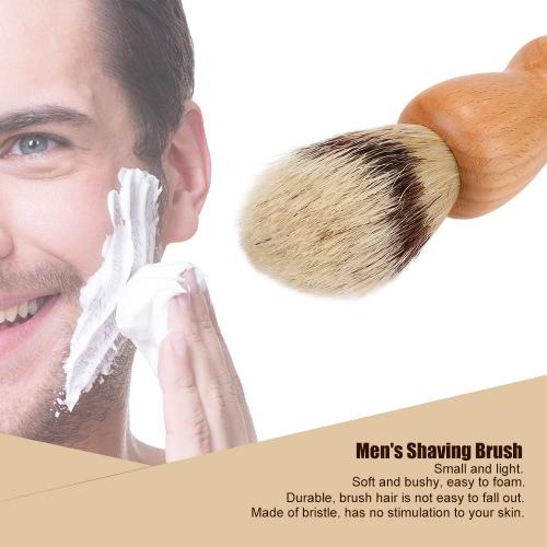 Men's Bristle Shaving Brush Wood Handle For Barber Tool Male's Wet Shaving Facial Cleaning Tool Yellow Hair Shaving Tool W2897