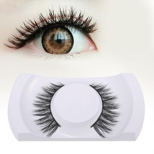 Girl's Fake Lashes Thick Mink False Lashes Hand-made Eyelashes Upper Black Makeup Lashes Eyes Cosmetic Tool